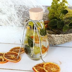 ハーバリウムギフト ドロップボトル オレンジ&グリーン イメージ1