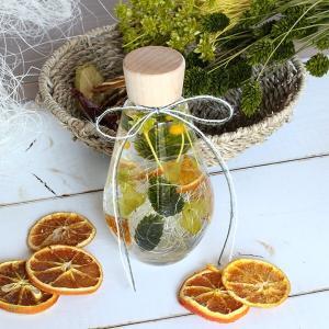 ハーバリウムギフト ドロップボトル オレンジ&グリーン イメージ2