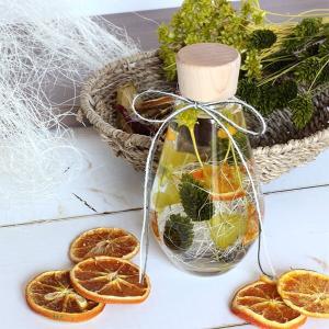 ハーバリウムギフト ドロップボトル オレンジ&グリーン イメージ3