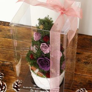 プリザーブドフラワーのクリスマスツリーパープル イメージ4