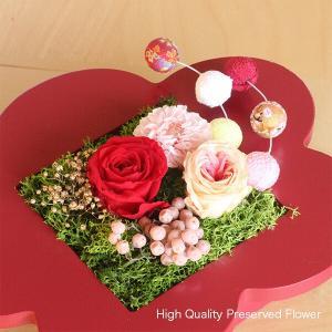 プリザーブドフラワーのお正月飾り 梅 イメージ2