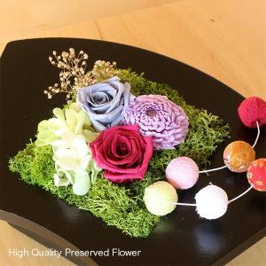 プリザーブドフラワーのお正月飾り 扇 イメージ1