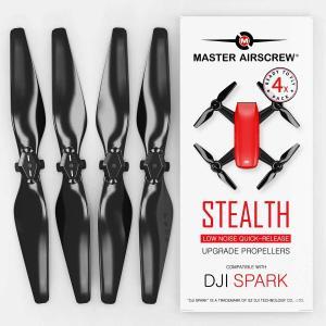MA DJI Spark用 STEALTHアップグレード・プロペラ4.7x2.9  (ブラック)4本...
