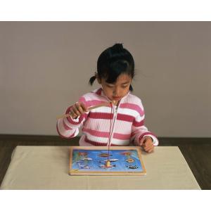 『フィッシングパズル』出産祝い 木のおもちゃ はじめてのおもちゃ 知育玩具 誕生日プレゼント 男の子 女の子 長く遊べる[A3115231]|littlegenius