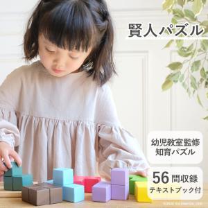 『賢人パズル』出産祝い 木のおもちゃ はじめてのおもちゃ 知育玩具 誕生日プレゼント 男の子 女の子 長く遊べる[A3112549]|littlegenius