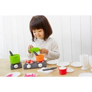 『シリコンクッキングセット』出産祝い 木のおもちゃ はじめてのおもちゃ 知育玩具 誕生日プレゼント 男の子 女の子 長く遊べる[a31310220]|littlegenius