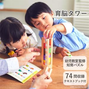『育脳タワー』出産祝い 木のおもちゃ はじめてのおもちゃ 知育玩具 誕生日プレゼント 男の子 女の子 長く遊べる[a31310131]|littlegenius