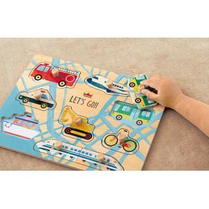 『木のパズル わくわくのりもの』出産祝い 木のおもちゃ はじめてのおもちゃ 知育玩具 誕生日プレゼント 男の子 女の子[a31310172]|littlegenius