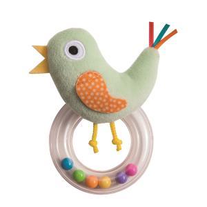 『ことりのラトル』出産祝い 布のおもちゃ はじめてのおもちゃ 知育玩具 誕生日プレゼント 男の子 女の子 長く遊べる[a31310176]|littlegenius