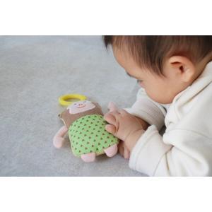 『おさるのぶるぶるラトル』出産祝い 布のおもちゃ はじめてのおもちゃ 知育玩具 誕生日プレゼント 男の子 女の子[a31310177]|littlegenius