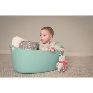 『しろくまのラトル』出産祝い 布のおもちゃ はじめてのおもちゃ 知育玩具 誕生日プレゼント 男の子 女の子 長く遊べる[a3131019]|littlegenius
