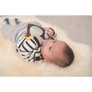 『ペンギンのラトル』出産祝い 布のおもちゃ はじめてのおもちゃ 知育玩具 誕生日プレゼント 男の子 女の子 長く遊べる[a31310190]|littlegenius