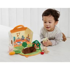『ふわふわガーデンハウス』出産祝い 布のおもちゃ はじめてのおもちゃ 知育玩具 誕生日プレゼント 男の子 女の子 長く遊べる[a31310255]|littlegenius