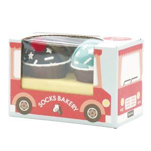 『SOCKS BAKERY Bitter Cupcake-ビターカップケーキ-』出産祝い 靴下 ベビーソックス 誕生日プレゼント[a31310260]|littlegenius