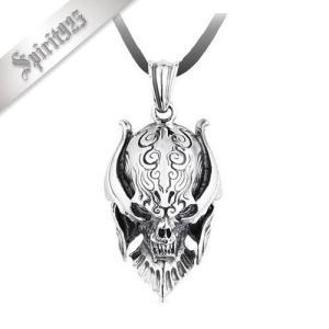 メンズネックレス Skull-0980 ザルバペンダント ノーマルタイプ シルバー925製トップ ハイクォリティー仕上げ SPR0980|littlenifty-yhshop