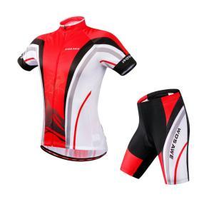 サイクリングウェア LNWS467 マウンティンサイクリングプリント メンズ 吸汗速乾伸縮素材 反射加工 バックポケット 短袖上下セット [並行輸入品]|littlenifty-yhshop