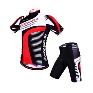 サイクリングウェア LNWS490 マキシムロードプリント 吸汗速乾伸縮素材 反射加工 バックポケット 短袖上下セット [並行輸入品]|littlenifty-yhshop