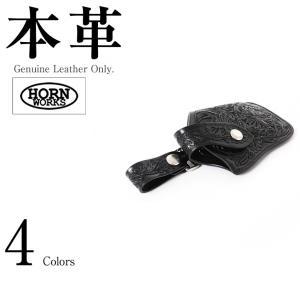 カービング 携帯ケース 男女兼用 本革 Horn Works 26854  スマホケース 携帯ケース 革ジャン・革製品 日本最大級の品揃え!本革限定(バッグ 手袋 ベルト 靴|liugoo