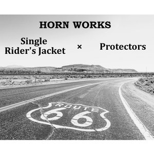 プロテクターシングル メンズ 本革 Horn Works 4792  シングルライダース ライダースジャケット レザージャケット 革ジャン 皮ジャン ダブルライダース ブラック|liugoo|02