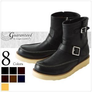 ショートエンジニアブーツ 革靴 高級カウ牛革 全8色 新品 メンズ 本革 〈Dedes デデス〉ホワイトソール エンジニアブーツ 5133 レザー|liugoo