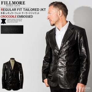 FILLMORE 本革 クロコダイルテーラードジャケット メンズ フィルモア TLD07A  レザージャケット/ライダースジャケット|liugoo