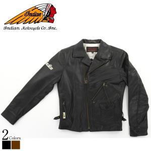 Dポケットダブルライダースジャケット メンズ 本革 インディアンモーターサイクル OIM-6141  ダブルライダース ライダースジャケット レザージャケット 革ジャン|liugoo