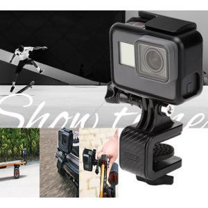 GoPro Hero6/5/4/3+/3 スケートボード マウント ホルダー 180°回転式 挟む範囲8mm-15mm カメラホルダー|livekurashi