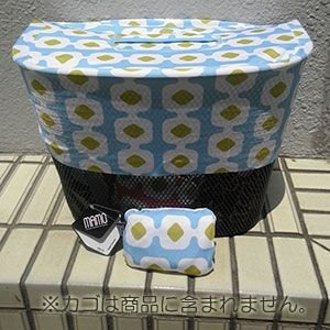 MAMO bicycle baskets protector(ひったくり防止用ネット)【Blossom pattern blue & lime yellow】|livelove