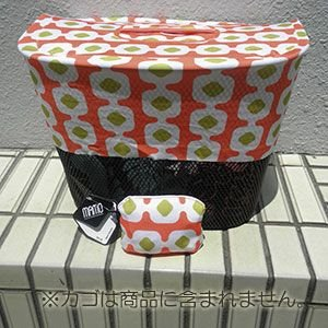 MAMO bicycle baskets protector(ひったくり防止用ネット)【Blossom pattern coral & lime yellow】|livelove