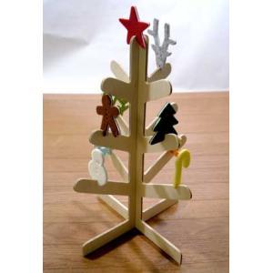 Wood Tree with 9 Ornaments (ウッドツリー)|livelove