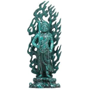 [仏像] 不動明王 21.0cm 青銅色 合金製【送料無料(北海道/沖縄離島除く)】|lives