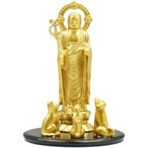 ペット地蔵 あけぼの 7.5cm 金色 合金製|lives