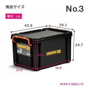 フタ付き 収納ボックス 道具箱 カナディアンタッグNo.3(ブラック)|livewell|02