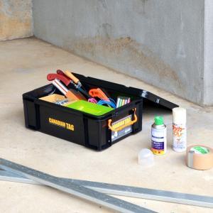 フタ付き 収納ボックス 道具箱 カナディアンタッグNo.4(ブラック)|livewell|04