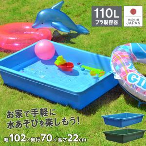 たらい 水槽 プラスチック 左官 ブルコンテナFP-110|livewell