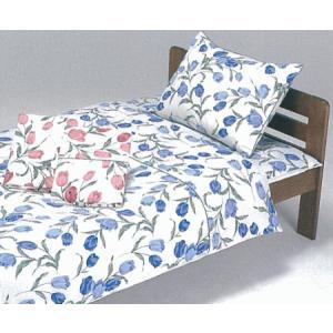 枕カバー 天然素材 綿100% チューリップ柄 ピローケース 43cmX63cm用 ファスナー式|livingdays