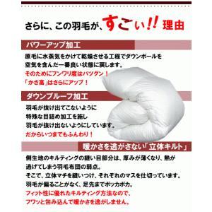 羽毛布団 セミダブル スーパーロング ホテル仕様 羽毛掛け布団 ホワイトダウン 日本製|livingdays|02