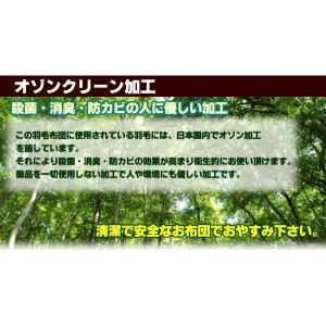 羽毛布団 シングル日本製 ニューゴールドラベル ホワイトダックダウン ライトタイプ|livingdays|03