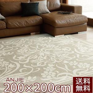 デザインラグ FUNCTION RUG Warm eco ラグ ANJIE アンジェ 200×200cm 日本製|livingdays