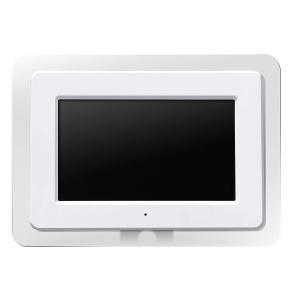 デジタルフォトフレーム 7型カラー液晶搭載 ホワイト GHV-DF7C(W)  GREEN HOUSE|livingheart