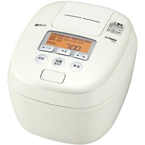 タイガー 圧力IH 炊飯器JPC-B180W ホワイト 1升 土鍋 コーティング 圧力IH炊飯ジャー 麦ごはん|livingheart