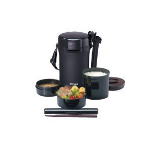 タイガー 魔法瓶 保温 弁当箱 ステンレス ランチ ジャー 茶碗 約 4 杯分 ブラック LWU-A202-KM|livingheart