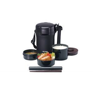 タイガー 魔法瓶 保温 弁当箱 ステンレス ランチ ジャー 茶碗 約 3 杯分 ブラック LWU-A172-KM|livingheart
