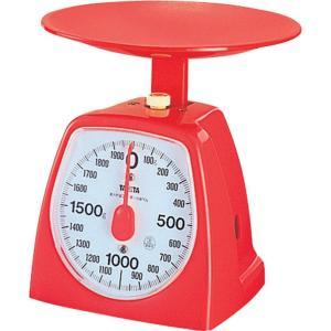 クッキングスケールタニタ アナログ 2kg/10g レッド 1439-RD 電池不要|livingheart