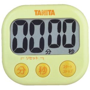 タニタ でか見えタイマー100分 イエロー TD-384-YL|livingheart