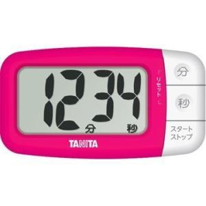 タニタ TD-394 デジタルタイマーでか見えプラス フレッシュピンク|livingheart