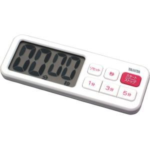 タニタ デジタルタイマー でか見えプラス ブラック TD-395-WH|livingheart