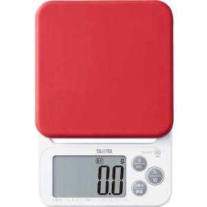 クッキングスケールタニタ デジタル 2kg/0.1g レッド KJ-212-RD お菓子作りにおすすめ|livingheart