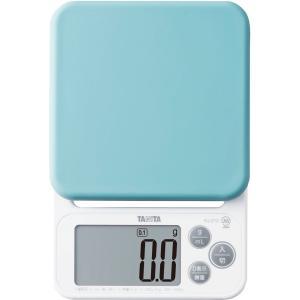 クッキングスケール タニタ デジタル2kg/0.1g ブルー KJ-212-BL お菓子作りにおすすめ|livingheart