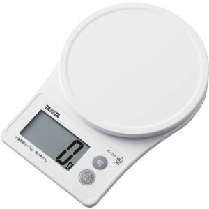 クッキングスケールタニタ デジタル 2kg/1g ホワイト KJ-216-WH|livingheart